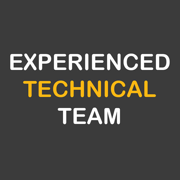 Équipe technique expérimentée